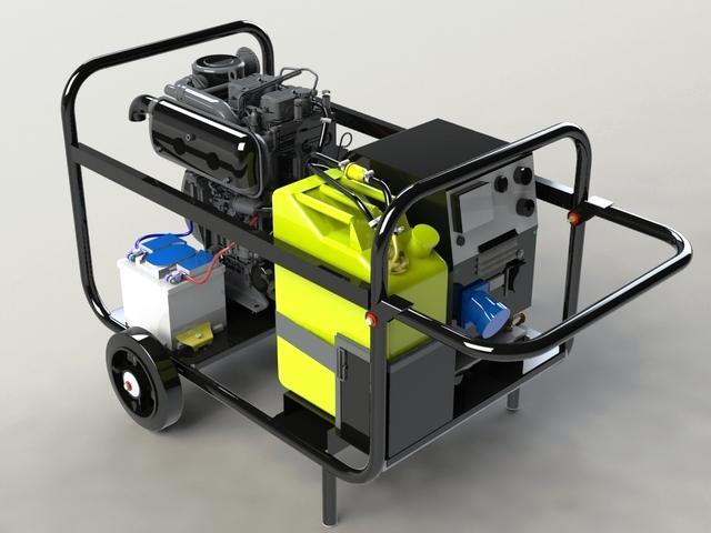 Сварочный трёхфазный генератор дизельный Вепрь АСПДВ300-8/3-Т400/230 ВЛ-БСК