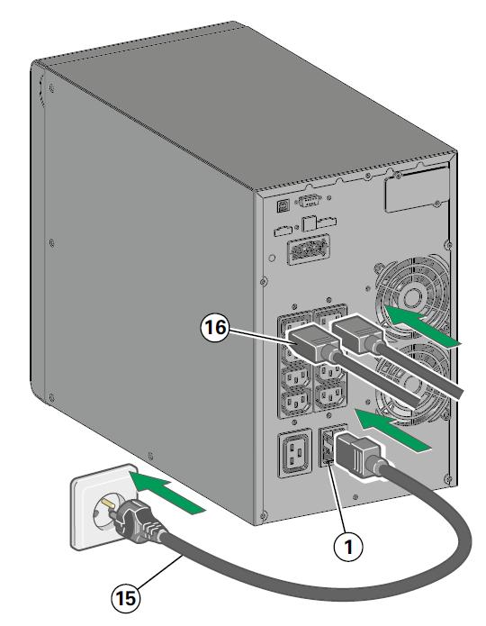 Подключение Источник бесперебойного питания Eaton 9SX1000I