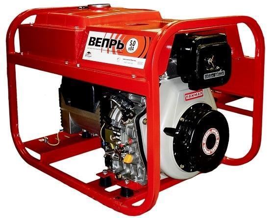 Дизельный генератор 5 кВт Вепрь АДП 5,0-230 ВЯ Б