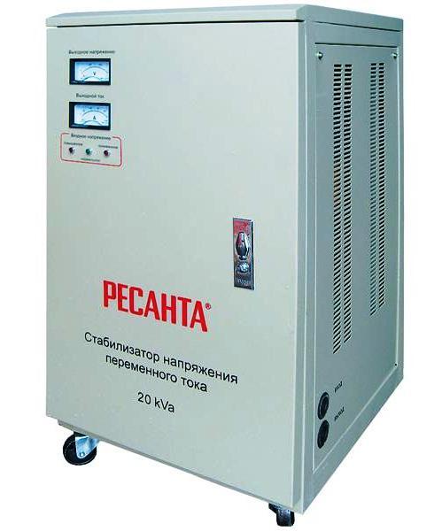Стабилизатор напряжения однофазный 20 кВт 220 Вольт Ресанта АСН 20000
