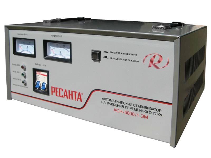 Стабилизатор напряжения Ресанта АСН 5000 ЭМ