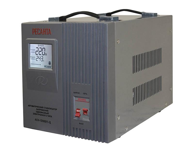 Стабилизатор напряжения однофазный 12 кВт 220 Вольт Ресанта АСН 12000/1-Ц