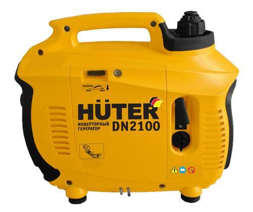 портативный однофазный 220V Вольт бензиновый генератор Huter 2100