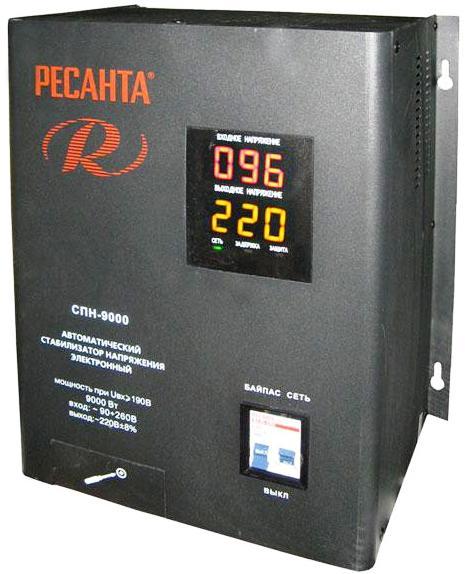 Стабилизатор напряжения Ресанта СПН 9000